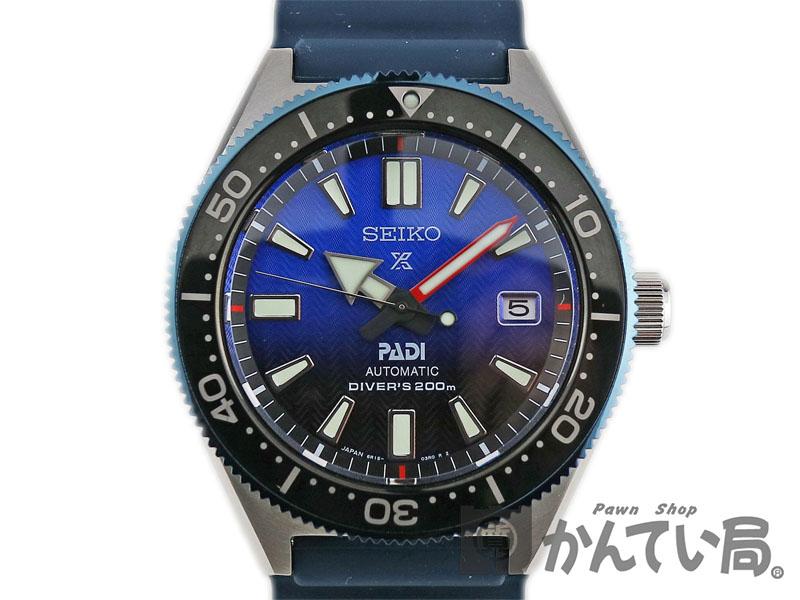 SEIKO【セイコー】 SBDC055 6R15-04B0 プロスペックス ダイバー PADI SS(ステンレス) シリコンブレス メンズ 腕時計【中古】かんてい局小牧店 c19-1264