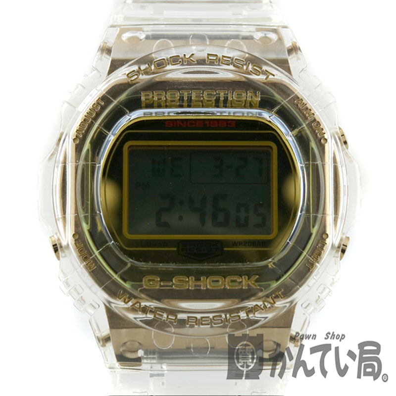 CASIO【カシオ】 DW-5735E G-SHOCK 腕時計 メンズ シンプル クリア スケルトン 【中古】USED【9】質屋かんてい局小牧店 c19-1678