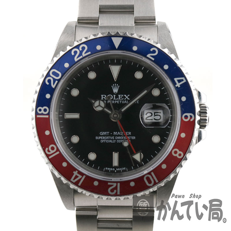 ROLEX16700 GMT master 1 blue X red Pepsi color men self-winding watch X  turn watch USED かんてい station Komaki shop c19-743