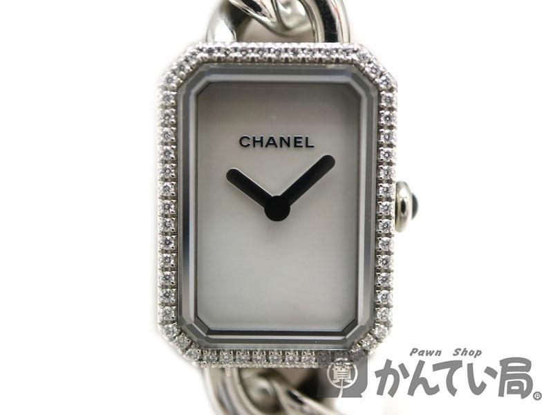 CHANEL【シャネル】H3253 プルミエール 腕時計 クオーツ 電池式 ダイヤモンド マザーオブパール ステンレススチール【中古】USED-8 質屋 かんてい局茜部店 a19-4365