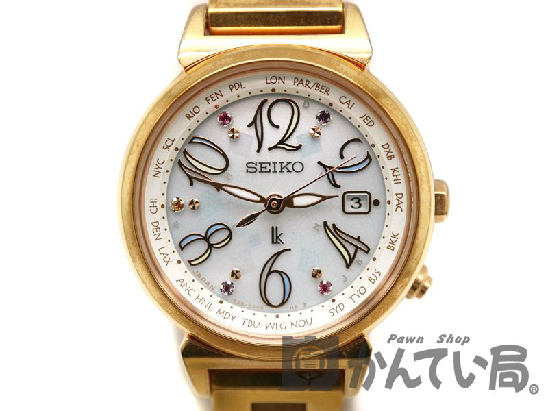 SEIKO【セイコー】 SSVV010 ルキア レディース 腕時計 電波ソーラー 1B25-0AF0 【中古】 質屋 かんてい局茜部店 a18-10255 USED-6