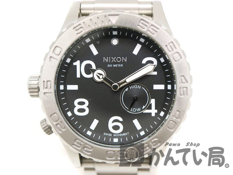 NIXON【ニクソン】 THE42-20 クオーツ クロノグラフ メンズ 腕時計 SS アラビア 【中古】 質屋 かんてい局茜部店 a18-10301 USED-6