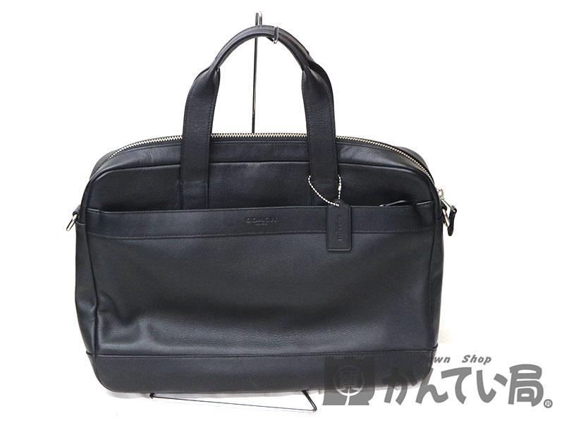 COACH【コーチ】F54801 ビジネスバッグ  レザー ブラック系 ハンドバッグ USED-6【中古】a18-8768  質屋 かんてい局茜部店