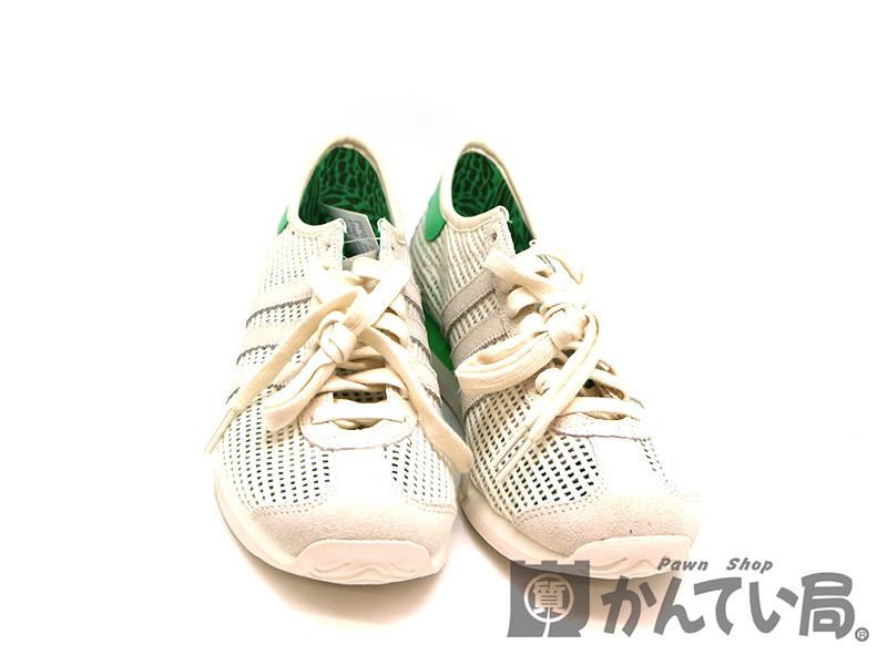 【エントリーでポイント5倍】【ポイントアップ対象店舗】adidas【アディダス】 D67589  カントリーサマー スニーカー 靴 メンズ 約27.5cm メッシュ素材 ホワイト系 グリーン系 USED-8【中古】 a19-6759 質屋 かんてい局茜部店
