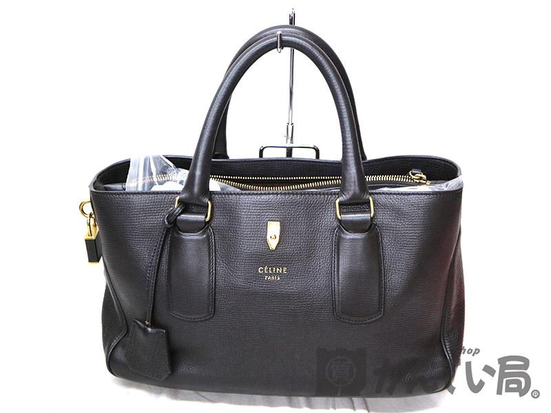 ニューブギーバッグが入荷致しました。 CELINE【セリーヌ】 ニューブギーバッグ トートバッグ 鞄 レザー ブラウン系  USED-6【中古】 a19-6829 質屋 かんてい局茜部店
