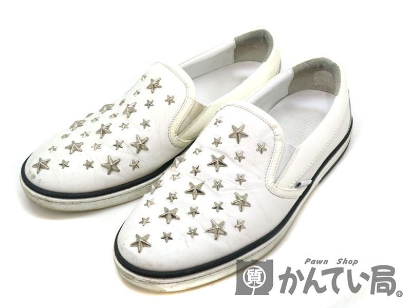 JIMMY CHOO【ジミーチュウ】 スリッポン 靴 メンズ サイズ表記:42 約27.0cm USED-6【中古】 a19-9084 質屋 かんてい局茜部店