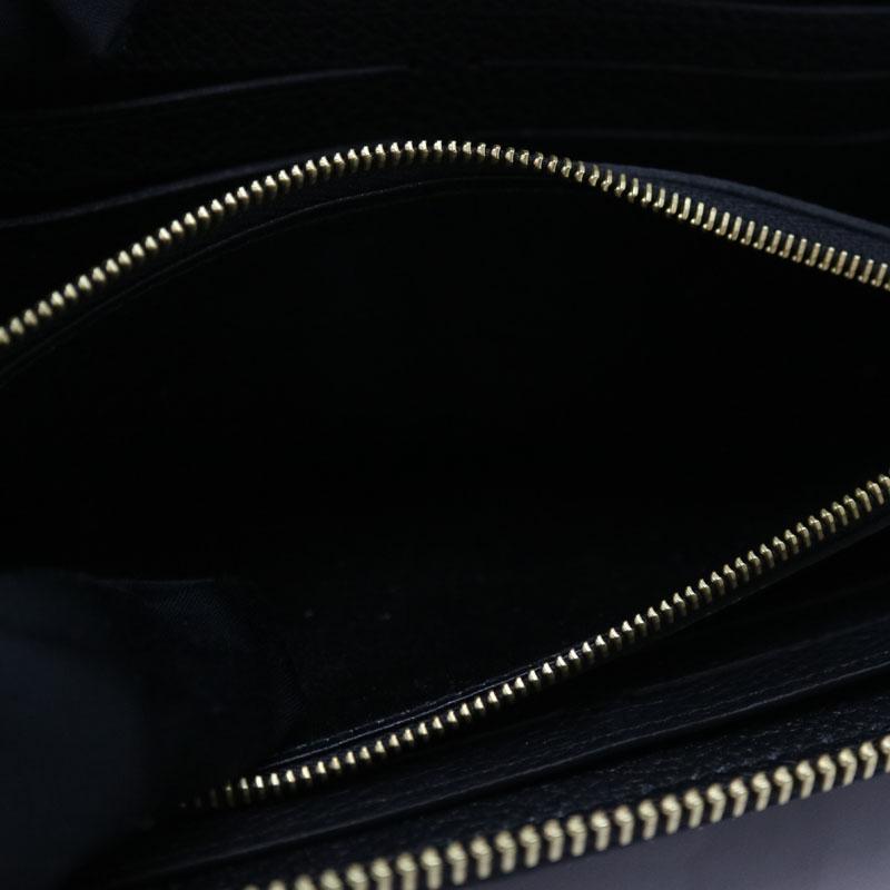 LOUIS VUITTON ルイヴィトンM60171 ポルトフォイユ・クレマンス モノグラムアンプラントレザー ノワール ブVzpGqSUM