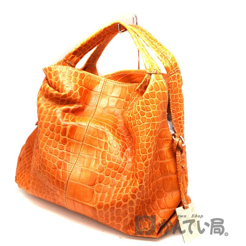 質屋かんてい局 即日配送可 ラッピング対応 FURLA フルラ 2WAYバッグ 鞄 質屋 USED-7 かんてい局茜部店 オレンジ系 初回限定 中古 数量は多 レザー A2007712
