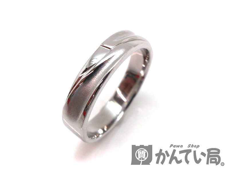 K18WG デザインリング 金 ホワイトゴールド 指輪 約16号 ジュエリー 宝石 新品仕上げ済み USED-9【中古】 a18-7466 質屋 かんてい局茜部店