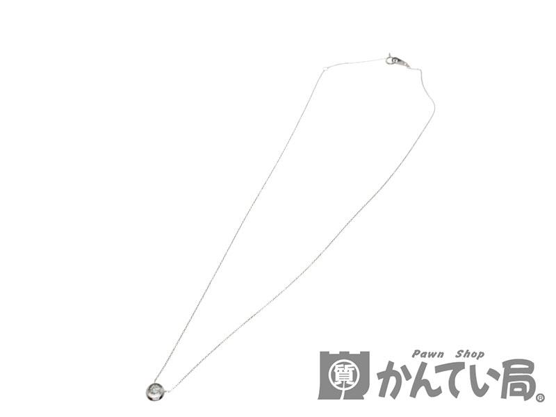 【新品仕上げ済み】K10WG D0.13ct付きネックレス 約40cm 0.8g 【中古】USED-9 質屋かんてい局細畑店 h19-2495
