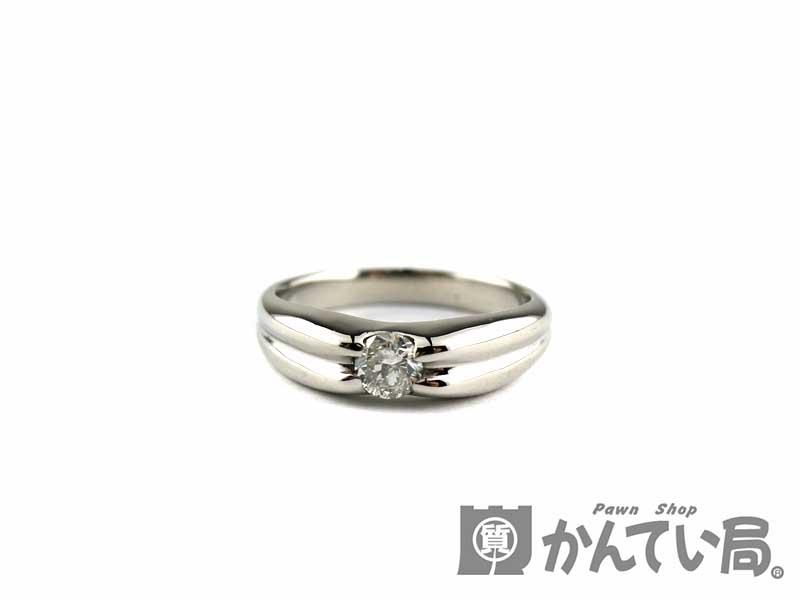 Pt900 ダイヤモンド リング D:0.20ct 指輪 レディース シンプル 約8号 約5.2g 【中古】 USED-9 質屋かんてい局 小牧店 c3103173028500090