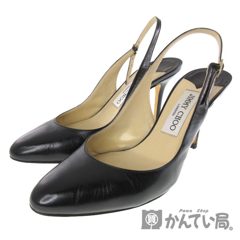 【エントリーでポイント5倍】【ポイントアップ対象店舗】JIMMY CHOO【ジミーチュウ】『ミュール』 パンプス シューズ 靴 ブラック系 ヒール 36 1/2(約23.5cm) ブランド ファッション レディース【中古】USED-AB【7】k3104687928900001 質屋 かんてい局春日井店