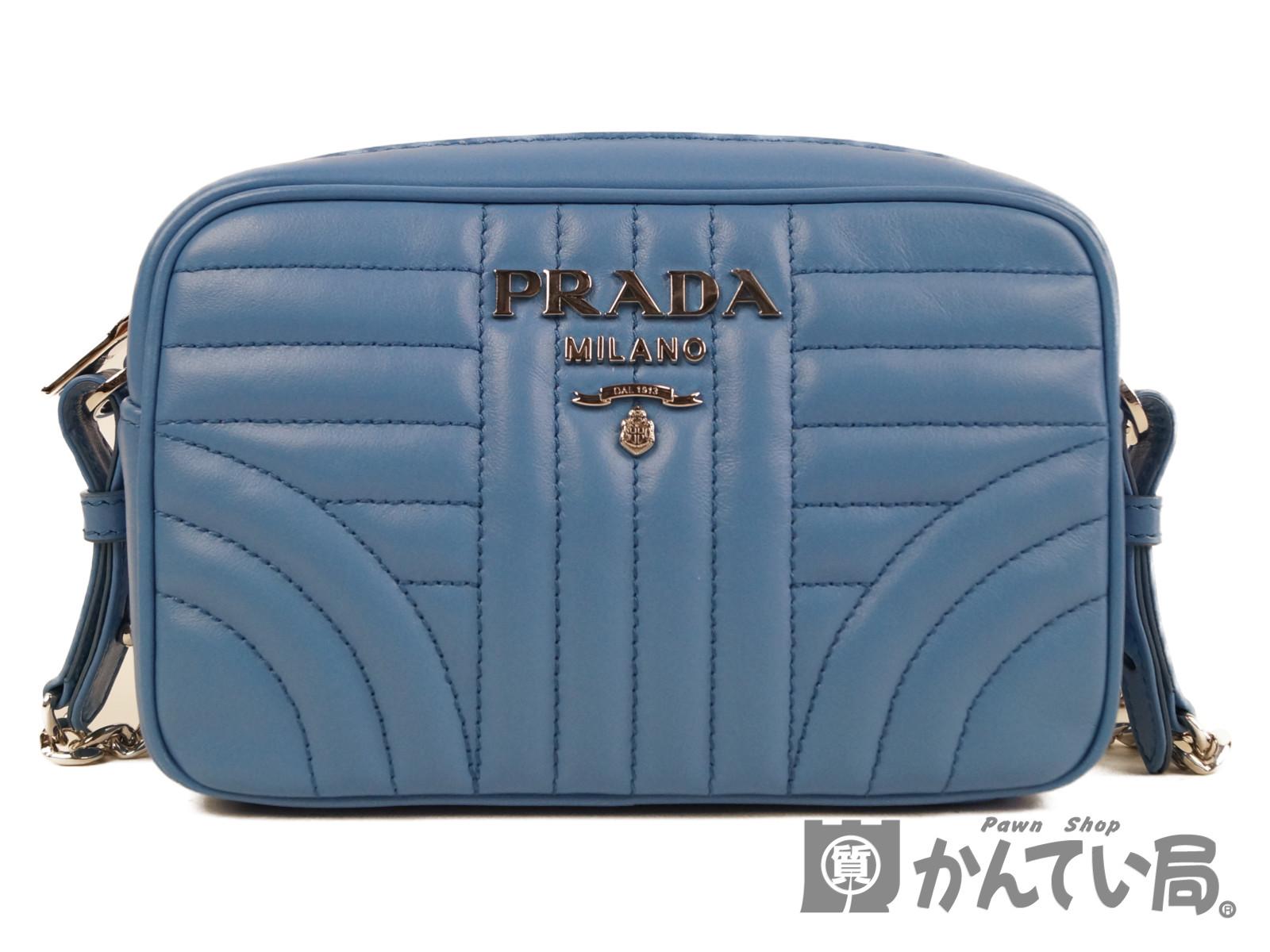 【PRADA】プラダ レザーダイアグラムチェーンショルダーバッグ 1BH084 レディースショルダーバッグ 【中古】F68-4940 USED-S かんてい局本社