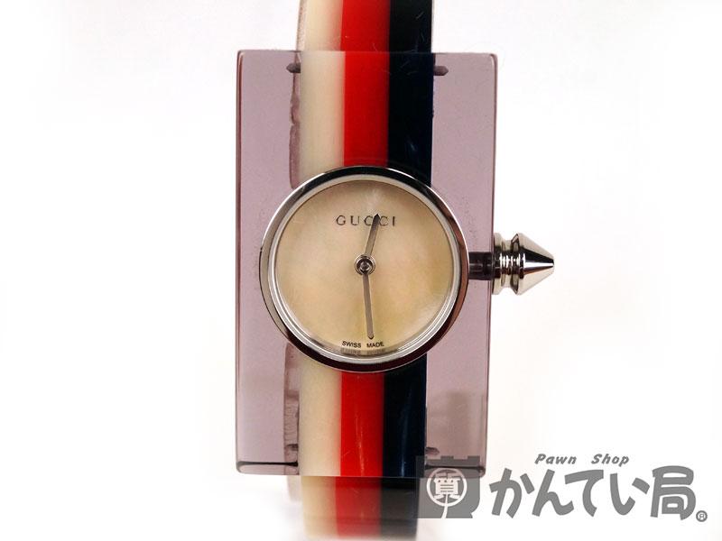 【GUCCI】グッチ ヴィンテージウェブ ミディアムウォッチ レディース腕時計 YA143523 レジン USED-A【中古】F68-5959 かんてい局本社