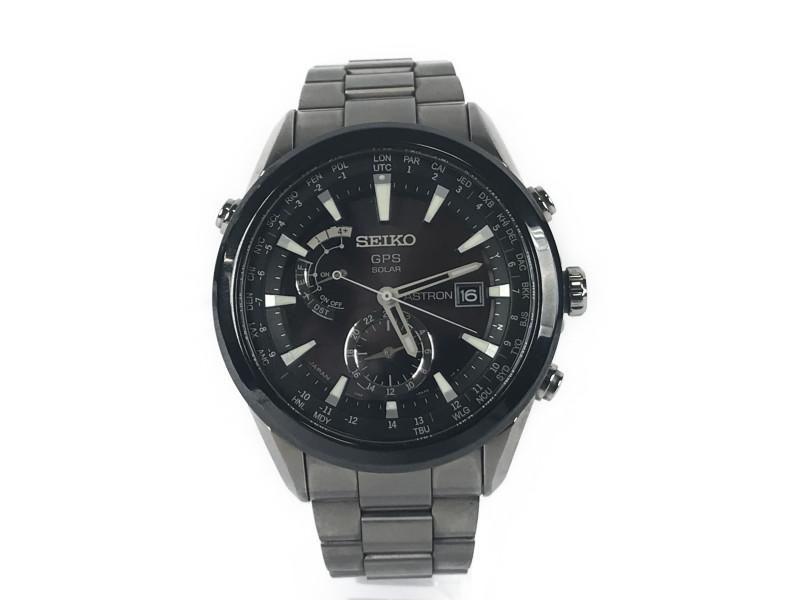 SEIKO セイコー アストロン SBXA003 メンズ 腕時計 ステンレススチール ソーラー充電 防水【中古】F68-2327 USED-B かんてい局本社