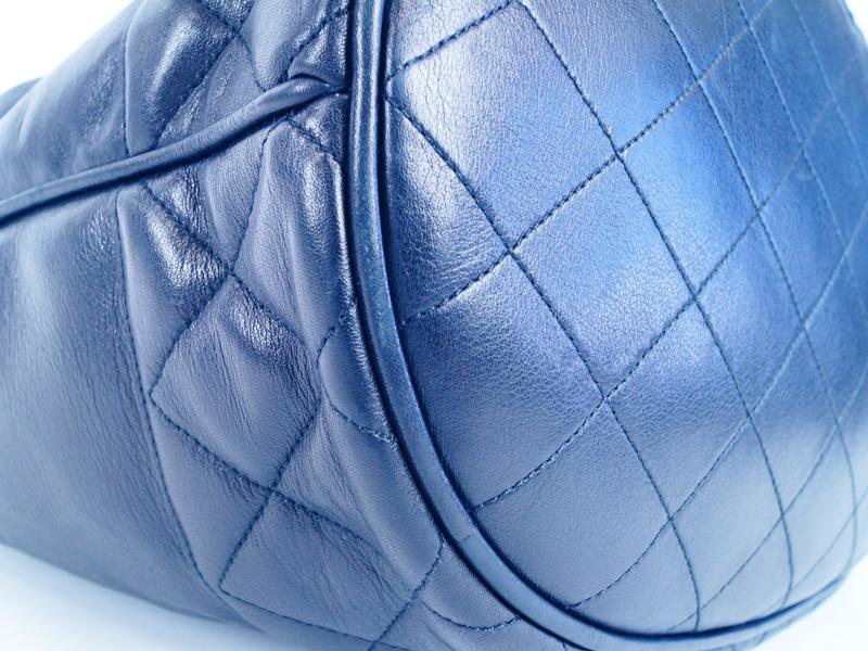 CHANELシャネルチェーンショルダーバッグ巾着ラムスキンブラック【】F68-3006USEDABかんてい局本社