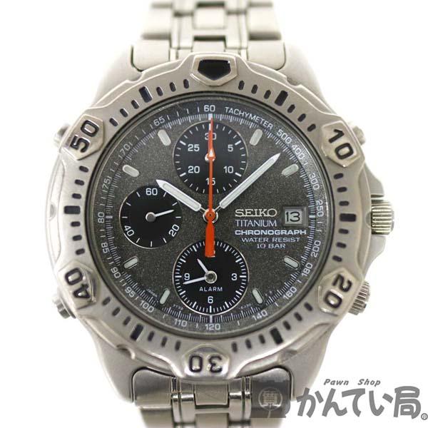 SEIKO【セイコー】 7T32-6G30 チタニウム クオーツ クロノグラフ 腕時計 メンズ 【中古】 質屋 かんてい局小牧店 c20-1029 USED-6