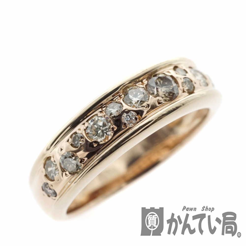KASHIKEYカシケイメランジェリング ブラウンダイヤモンド BD 0 50ct K18 ゴールド 約13号 5 5gWIEDYH29