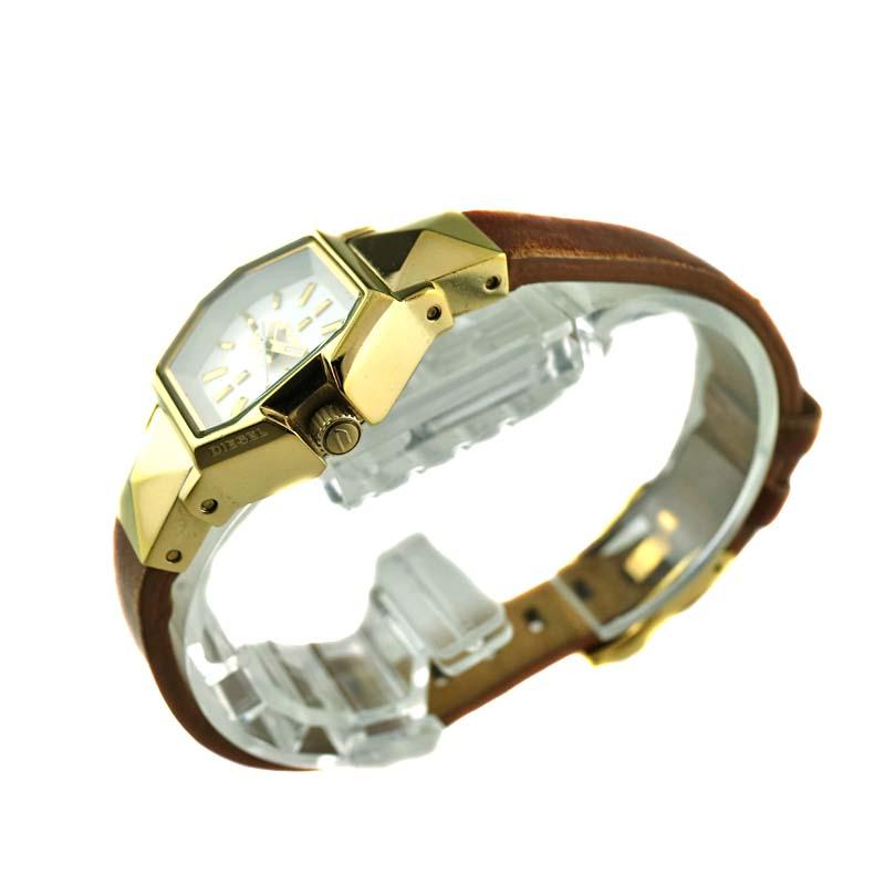 DIESEL ディーゼルDZ 5299 クォーツ 電池式 レディース 腕時計 ゴールド系USED 7質屋かんてい局kXZuOiTP
