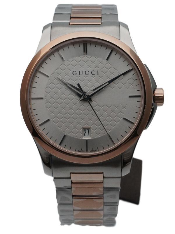 【未使用超美品】Gucci グッチ Gタイムレス クオーツ YA126447 メンズ腕時計 【中古】かんてい局【楽ギフ_包装選択】