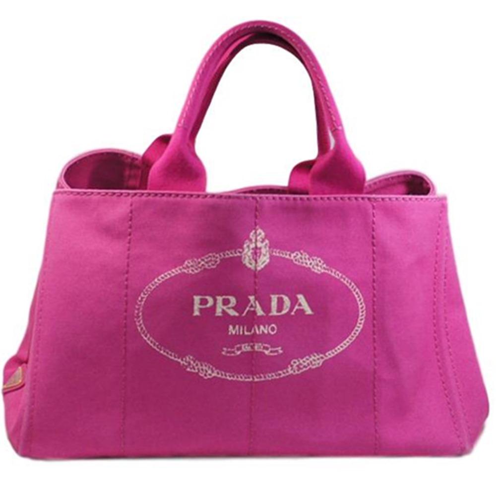 【PRADA】プラダ カナパGM キャンバストートバッグ ピンク BN1872【中古】かんてい局【楽ギフ_包装選択】