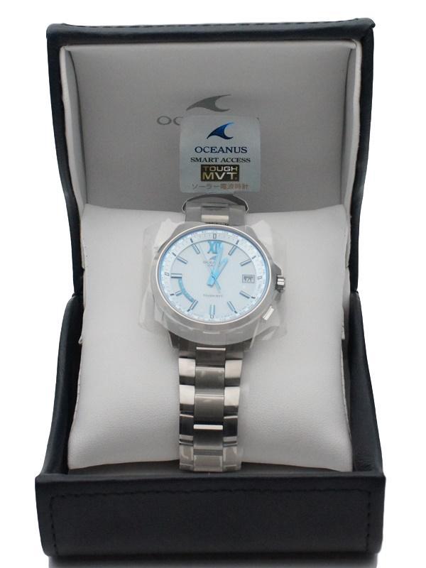 【6か月保証付き】CASIO カシオ オシアナス 電波ソーラー時計 【みずいろ】メンズ腕時計 【中古】かんてい局【楽ギフ_包装選択】