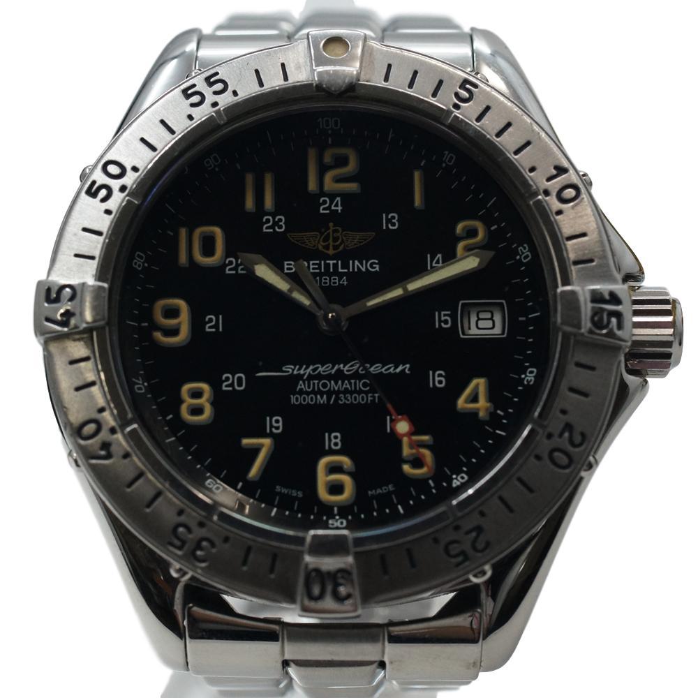 ブライトリング【BREITLING】スーパーオーシャン A17040 黒文字盤 メンズ 自動巻き 腕時計 【中古】かんてい局上水前寺店【楽ギフ_包装選択】k19-791