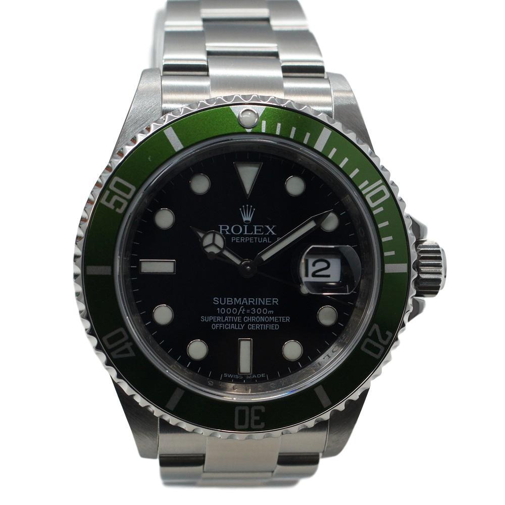ROLEX ロレックス 16610LV サブマリーナデイト グリーンベゼル ライム 自動巻き メンズ 腕時計【中古】かんてい局【楽ギフ_包装選択】