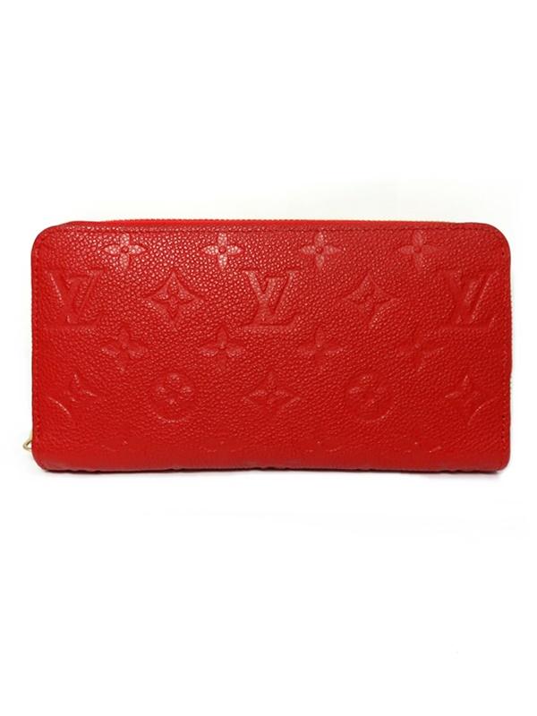 LOUIS VUITTON ルイヴィトン ラウンドファスナー財布 赤 アンプラント M61865【中古】かんてい局【楽ギフ_包装選択】