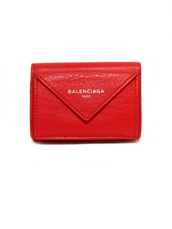 BALENCIAGA バレンシアガ 三つ折り財布 赤【中古】かんてい局【楽ギフ_包装選択】