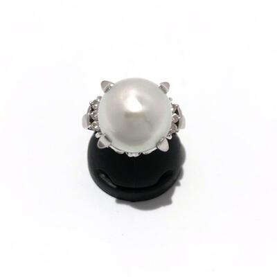 【中古】【USED】【指輪】Pt900 ダイヤ・色石付リング 約14号 9.5g プラチナ レディース 質屋かんてい局名護店