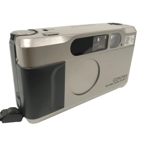 <title>送料無料 南店 コンタックス SALENEW大人気! T2 DATA BACK コンパクトフィルムカメラ Carl Zeiss Sonner 2.8 38 T チタンクローム ストラップ付 中古</title>