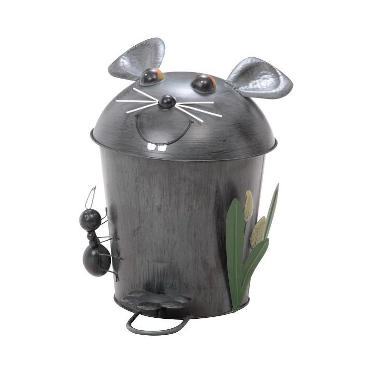 可愛い動物の形をしたゴミ箱/ダストボックス。インパクト大のアニマルキャラクターが愉快なペダル式のごみ箱。 ダストビン マウス 送料無料