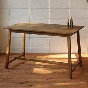 テーブル つくえ 木 木製 木製机 机 アンティーク 北欧 カフェ おしゃれ デザイン ガーデンファニチャーテーブル 家具 【全国一律送料無料】