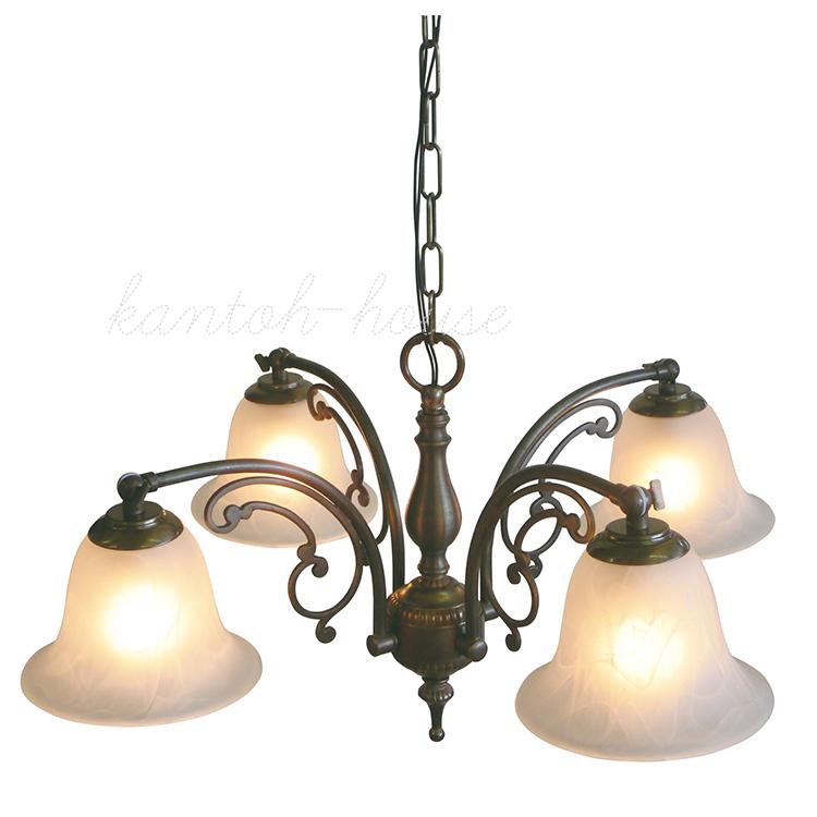 リビングやダイニングの主役になる簡単取付の引掛けシーリングタイプの吊り下げ式室内照明 LED電球に交換可能 アンティーク調クラシックスタイルのシャンデリア。 【店頭受取対応商品】