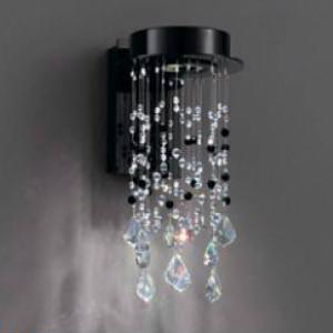 LED照明 シャンデリア 室内照明 ブラケットライト 壁付け照明 照明LED スワロフスキー ブラック