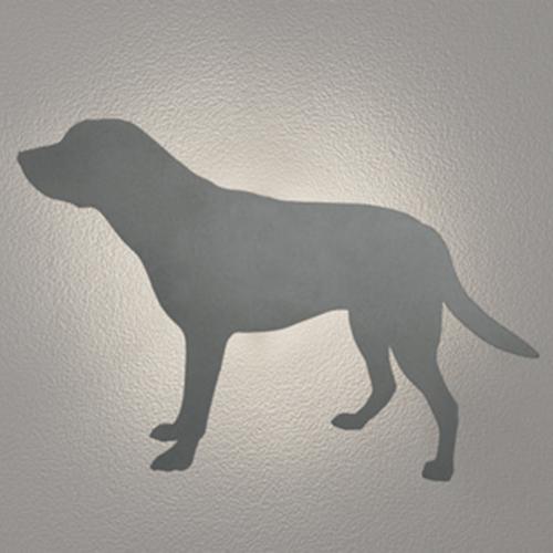 LED照明 いぬ 間接照明 シルエット灯 壁面照明 おしゃれ センサーなし ウォールライト 犬 ラブラドールレトリバータイプ イヌ