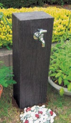 立水栓 水栓柱 水栓柱カバー 工事不要 木質調(枕木風) かぶせるだけで簡単設置 DIYにおすすめ 【全国一律送料無料】