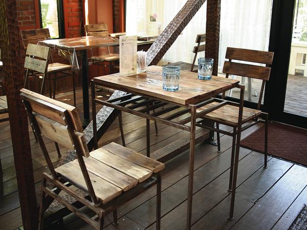 テーブルセット 家具 ヴィンテージ調 アンティークテーブルセット テーブル+チェア2脚のセット【送料無料】