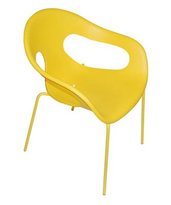 ガーデンチェア SUNNY サニー カラー イエロー ガーデンファニチャー(4脚まで送料1,630円)MADE IN イタリア バーベキューやガーデンパーティーにおしゃれで持ち運びに便利です。