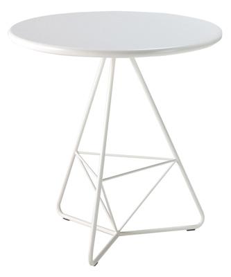 【送料無料】色鮮やかなガーデンテーブル 新生活 ガーデン テーブル ホワイト TRIA トリア【OnlyOne】【送料無料】ガーデンファニチャー バーベキューやガーデンパーティーにチェアと合わせていかがですか