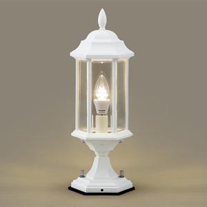 門柱灯 LED 照明 庭園灯 LEDライト 照明 屋外 エクステリアライト エクステリア ブラケット 外灯 おしゃれ レトロ アンティーク ガーデンライト LED照明 玄関照明 外灯 ポーチライト クラシックデザインの門柱灯 センサーなし