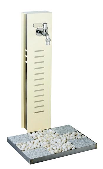【立水栓・水栓柱】水凛 【関東・東北・北海道送料無料】ガーデニングの散水が更に楽しくなるオールステンレスでモダンな立水栓 (蛇口付スタンド+パン)