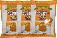 日本産 手づくりしましょう とってもカンタン 熱湯に溶かすだけ 往復送料無料 かんてんぱぱ 4901138882918-3 約6人分X5袋入 カップゼリー80℃オレンジ味 X3個セット