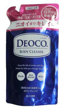 医薬部外品 送料無料限定セール中 ロート製薬DEOCO デオコ 薬用ボディクレンズ つめかえ用 250ml 推奨 4987241157686