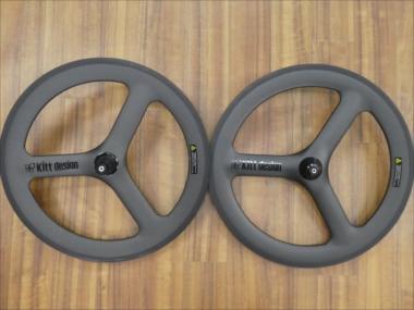 KIT DESIGN キットデザイン CARBON SPOKE WHEEL SET カーボン スポーク ホイール セット (406) ブラックロゴ