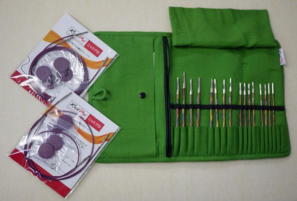 ニットプロ 付け替え式 輪針 布製ケース入り コンパクトサイズ デラックスセット:エデン トレイル70456 【KN】