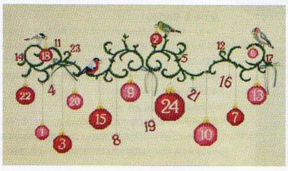 ☆ Embroidery Kit for DMC Christmas Advent Calender DMC Embroidery Kit BK1384