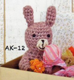 Animal clip Kit rabbit clip AK-12 cotton Ed amigurumi Kit