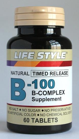 ビタミンB群「B-100コンプレックス」(60粒)ライフスタイル(LIFE STYLE)